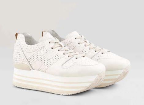 Sneakers con suola alta Hogan modello Maxi H222 prezzo 370 euro primavera estate 2019 470x343 - Novità scarpe Hogan donna primavera estate 2019