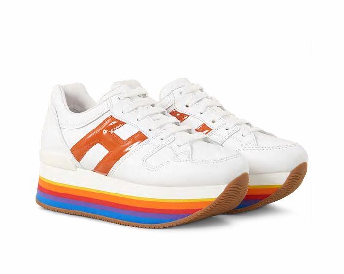 Sneakers con suola alta Hogan modello Maxi H222 prezzo 390 euro primavera estate 2019