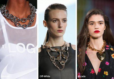 Tendenza gioielli primavera estate 2019 le collane catena 470x325 - 20 Tendenze Gioielli e Accessori Primavera Estate 2019