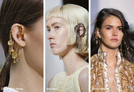 Tendenza gioielli primavera estate 2019 orecchini ear cuffs 470x324 - 20 Tendenze Gioielli e Accessori Primavera Estate 2019