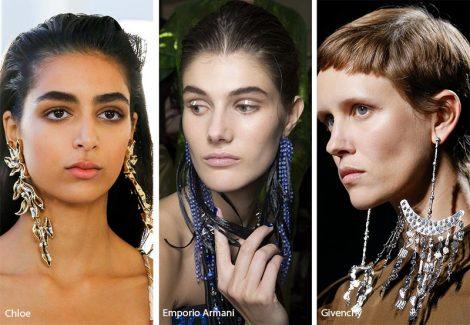 Tendenza gioielli primavera estate 2019 orecchini pendenti lunghi 470x325 - 20 Tendenze Gioielli e Accessori Primavera Estate 2019