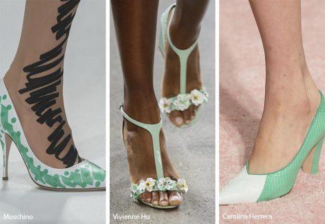 Tendenza moda scarpe e sandali colore verde menta 470x325 - 21 Tendenze Scarpe e Sandali primavera estate 2019