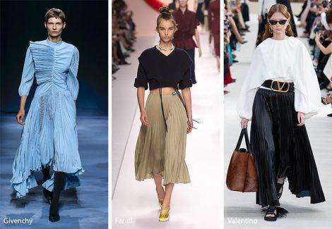 Tendenze Moda abbigliamento abiti e gonne a pighe plisse 470x325 - 20 Tendenze Moda Abbigliamento Donna Primavera Estate 2019