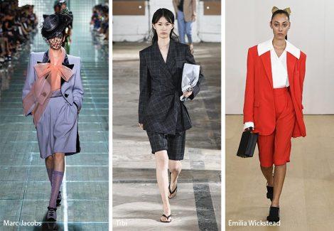 Tendenze Moda abbigliamento abiti tailleur con pantaloni corti 470x325 - 20 Tendenze Moda Abbigliamento Donna Primavera Estate 2019