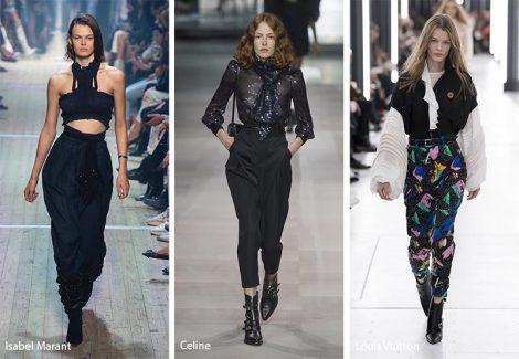 Tendenze Moda abbigliamento pantaloni larghi a vita alta 470x325 - 20 Tendenze Moda Abbigliamento Donna Primavera Estate 2019