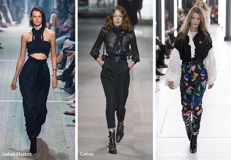 Tendenze Moda abbigliamento pantaloni larghi a vita alta