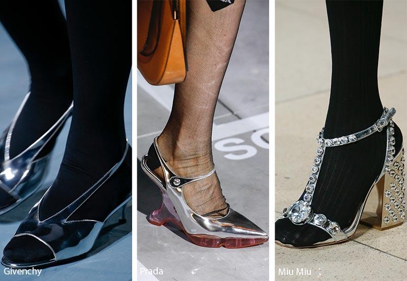 Tendenze Scarpe e sandali metallic silver primavera estate 2019