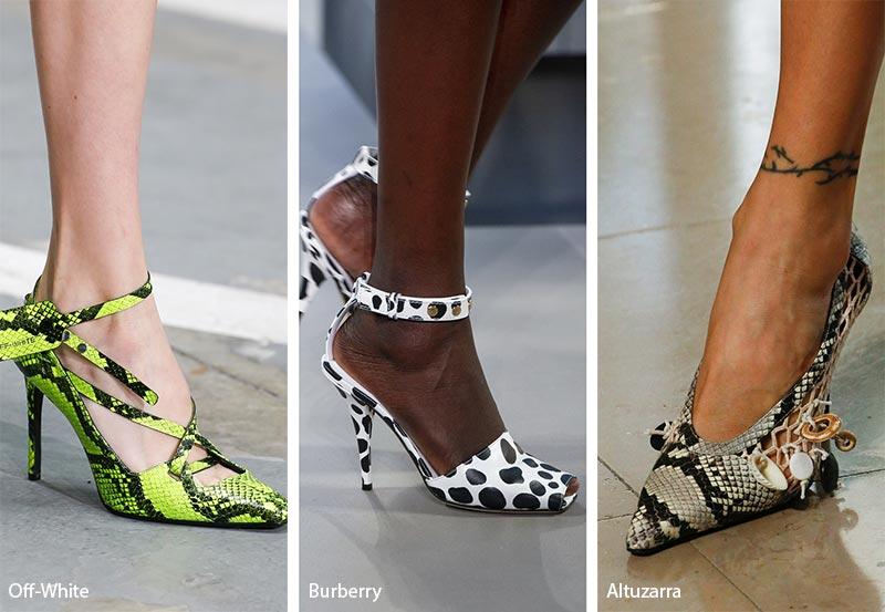 Tendenze moda scarpe e sandali stampe animalier