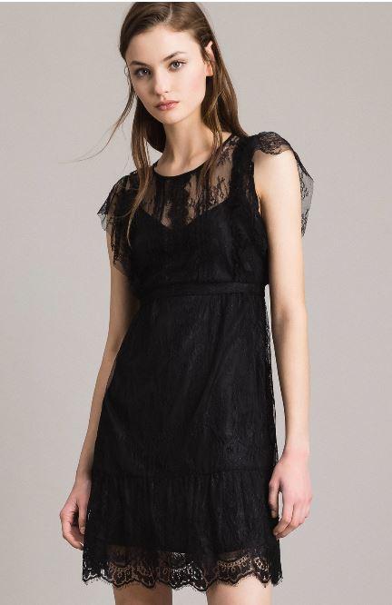 Vestito in pizzo Twin Set estate 2019 prezzo 148 euro - Collezione Twin Set primavera estate 2019: Abiti corti
