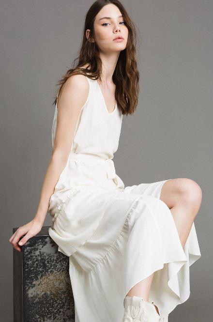 Vestito lungo Twin Set in mista seta collezione primavera estate 2019 prezzo 198 euro