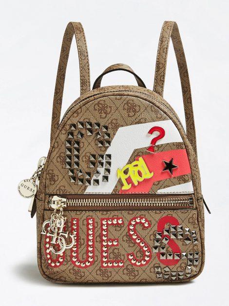 Zaino con maxi logo GUESS estate 2019 prezzo 125 euro 470x627 - Guess Borse Primavera Estate 2019: Catalogo Prezzi