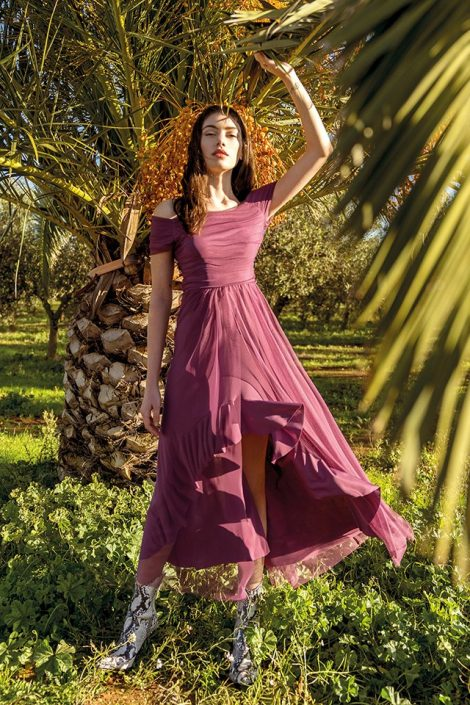 Elegante abito da cerimonia asimmetrico Rinascimento estate 2019 prezzo 129 euro 470x705 - Abiti Rinascimento primavera estate 2019