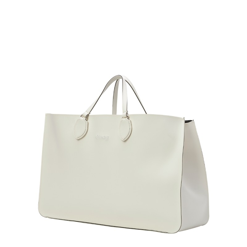 Nuova borsa O Bag Soft Maxi bianca con manici corti primavera estate 2019 prezzo 121 euro