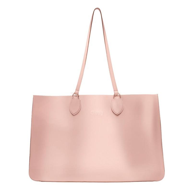 Nuova borsa O Bag Soft Maxi cipria metal con manici lunghi primavera estate 2019 prezzo 123 euro