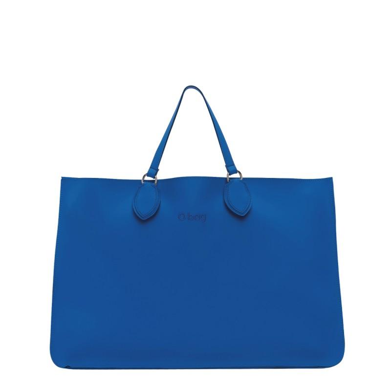 Nuova borsa O Bag Soft Maxi cobalto con manici corti primavera estate 2019 prezzo 121 euro