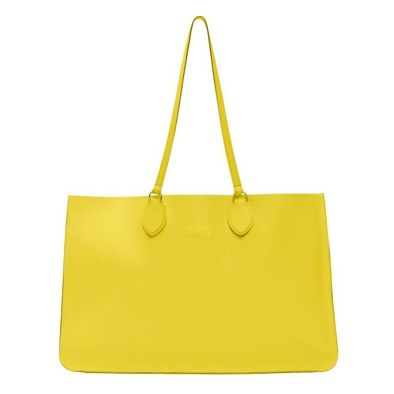 Nuova borsa O Bag Soft Maxi lime con manici lunghi primavera estate 2019 prezzo 123 euro
