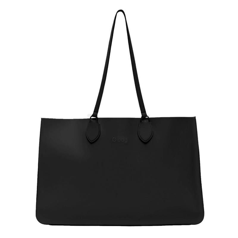 Nuova borsa O Bag Soft Maxi nera con manici lunghi primavera estate 2019 prezzo 123 euro