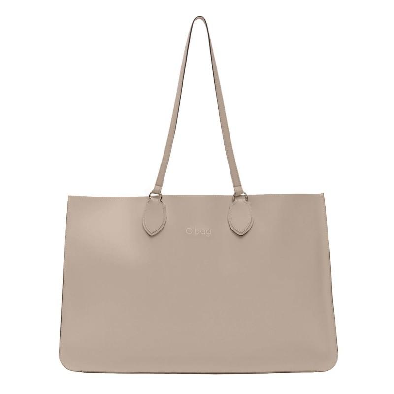 Nuova borsa O Bag Soft Maxi sabbia con manici lunghi primavera estate 2019 prezzo 123 euro
