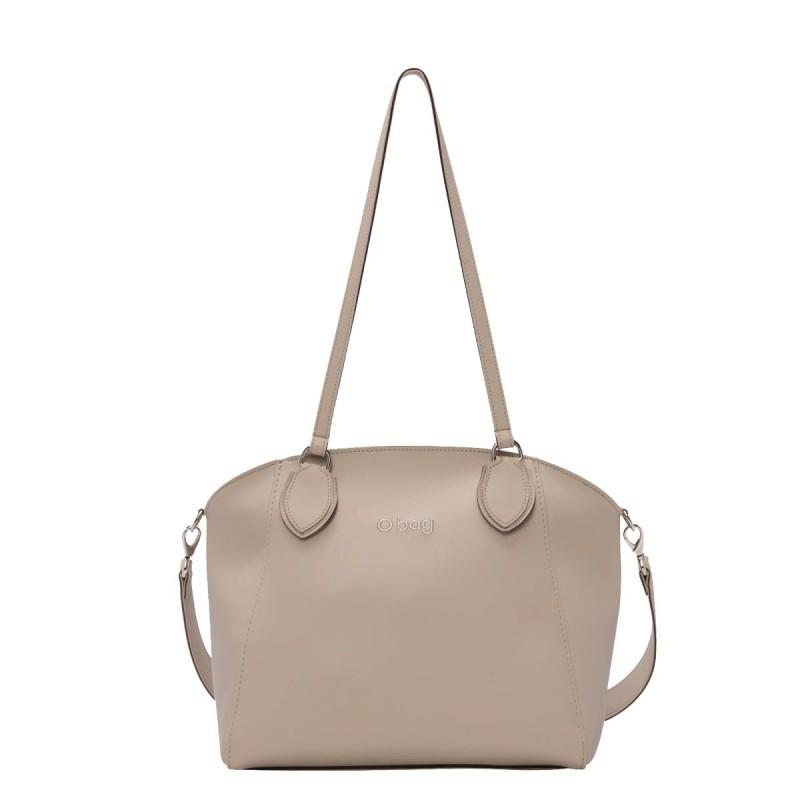 Nuova borsa O Bag Soft Mild sabbia con manici lunghi e tracolla primavera estate 2019 prezzo 102 euro