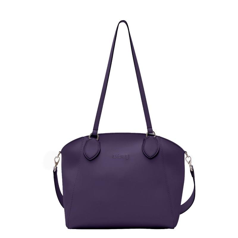 Nuova borsa O Bag Soft Mild viola con manici lunghi e tracolla primavera estate 2019 prezzo 102 euro