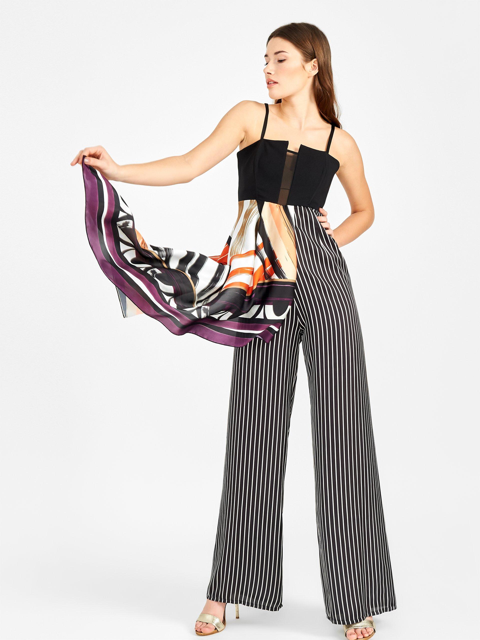 Tuta con pantaloni palazzo Rinascimento estate 2019