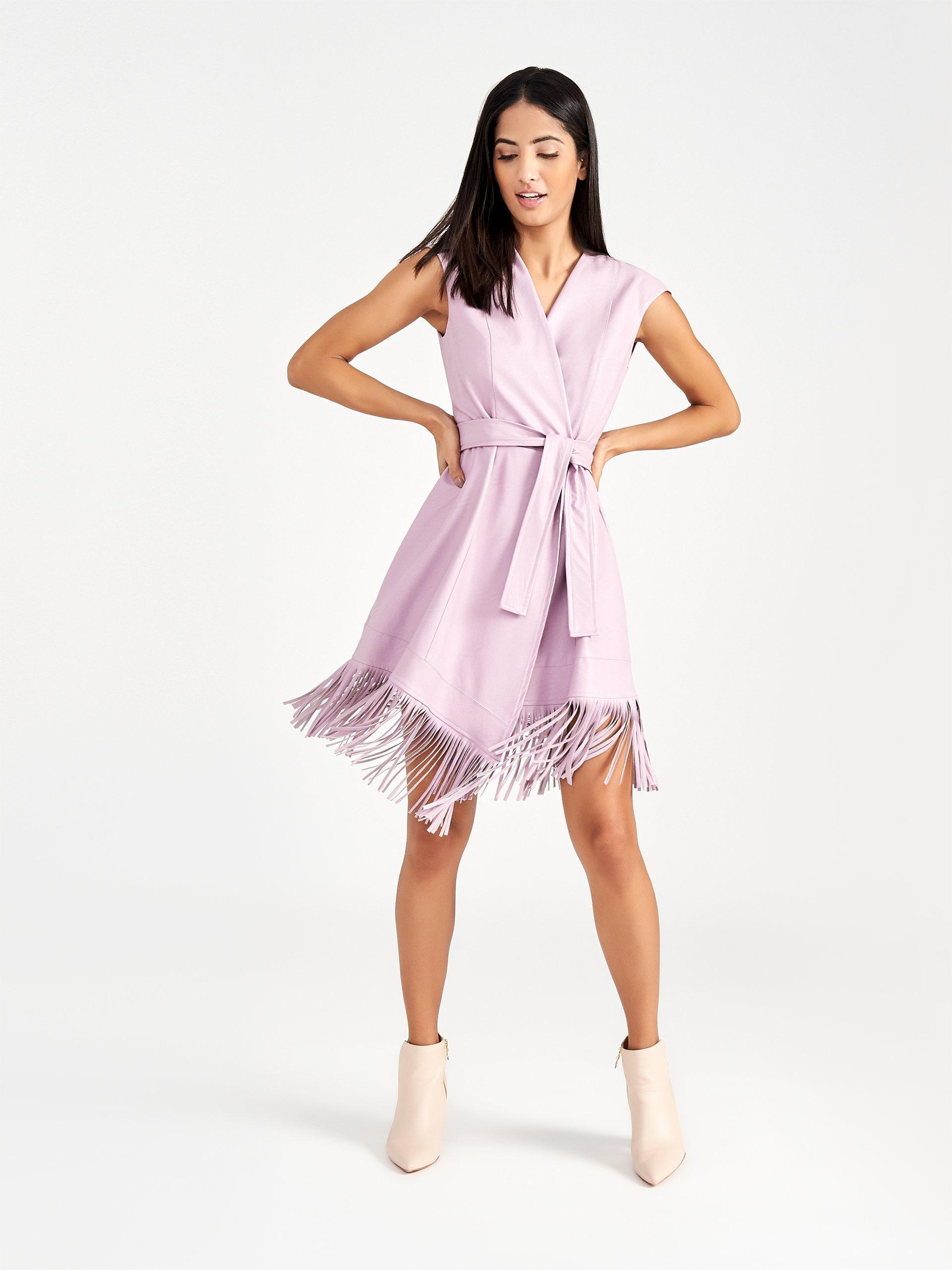 Vestito corto con frange Rinascimento estate 2019 prezzo 119 euro