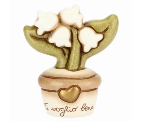 Vasetto Thun con fiori di mughetti e la frase Ti voglio bene 470x402 - Vasetti Fiori THUN 2019