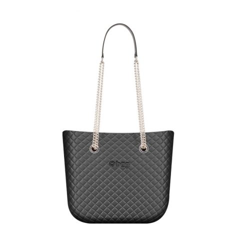 O Bag Mini Matelasse color grafite con manici lunghi 470x470 - Collezione Borse o Bag Mini Matelassè primavera estate 2019