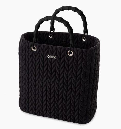 Nuova borsa O Bag Market in tessuto spigato nero inverno 2019 2020 470x500 - Nuova Borsa O Bag Market Inverno 2019 2020: foto e prezzi