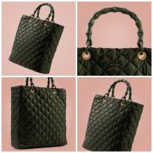 Nuova borsa O Bag Market in tessuto trapuntato verde inverno 2019 2020 220x220 - Nuova Borsa O Bag Market Inverno 2019 2020: foto e prezzi