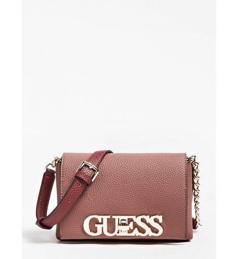 Nuova borsa a tracolla Guess modello Uptown chic inverno 2019 2020 prezzo 75 euro 470x511 - Nuove Borse GUESS inverno 2019 2020