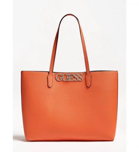 Nuova shopper Guess Uptown Chic con pochette interna prezzo 129 euro colore arancione 470x511 - Nuove Borse GUESS inverno 2019 2020