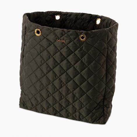 Scocca nuova borsa O bag Market in tessuto piumino trapuntato verde scuro 470x470 - Nuova Borsa O Bag Market Inverno 2019 2020: foto e prezzi