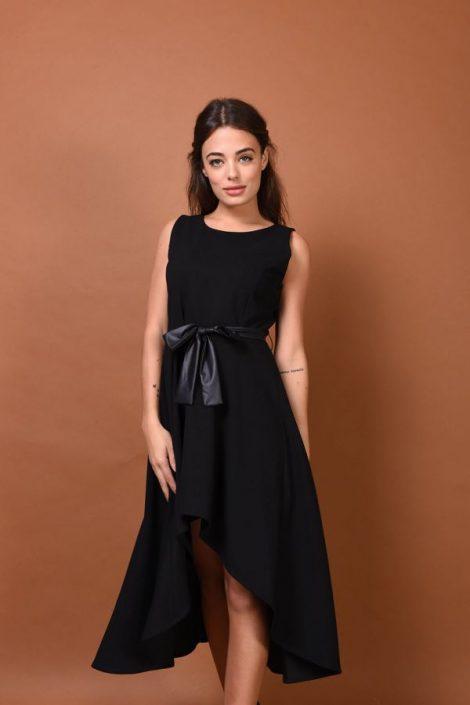 Elegante abito nero asimmetrico Nuna Lie inverno 2019 2020 470x705 - Nuna Lie Abiti eleganti da sera e da cerimonia Inverno 2020