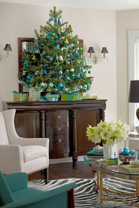 Albero di Natale 2019 blu e verde 470x703 - Colori Alberi di Natale 2019