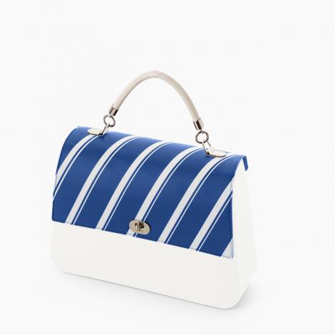Borsa O bag Queen bianca con pattina a righe collezione inverno 2019 2020 470x470 - Borsa o Bag Queen collezione inverno 2019 2020