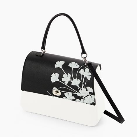 Borsa O bag Queen bianca con pattina marigold nera collezione inverno 2019 2020 470x470 - Borsa o Bag Queen collezione inverno 2019 2020