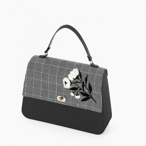 Borsa O bag Queen con pattina in tessuto stampa Principe di Galles collezione inverno 2019 2020 470x470 - Borsa o Bag Queen collezione inverno 2019 2020