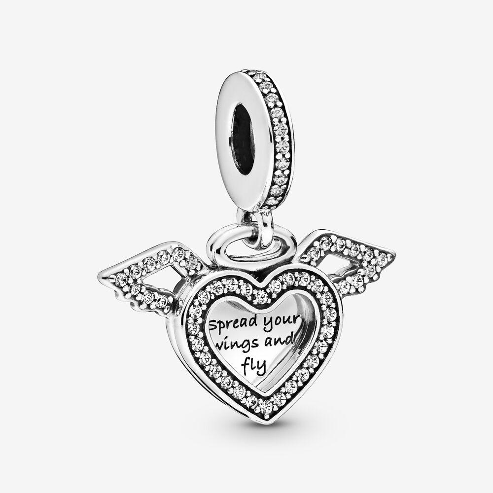 Charm cuore con ali dangelo Pandora - Charm cuore con ali d'angelo Pandora
