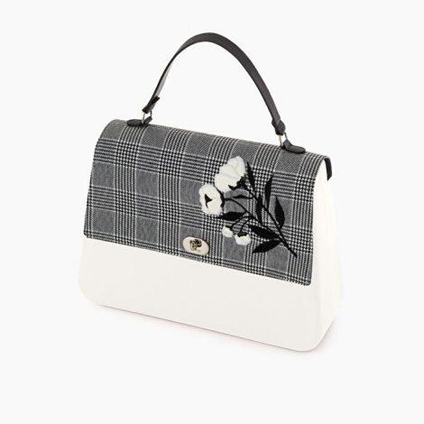 Pattina borsa O bag Queen stampa Principe di Galles collezione inverno 2019 2020 470x470 - Borsa o Bag Queen collezione inverno 2019 2020