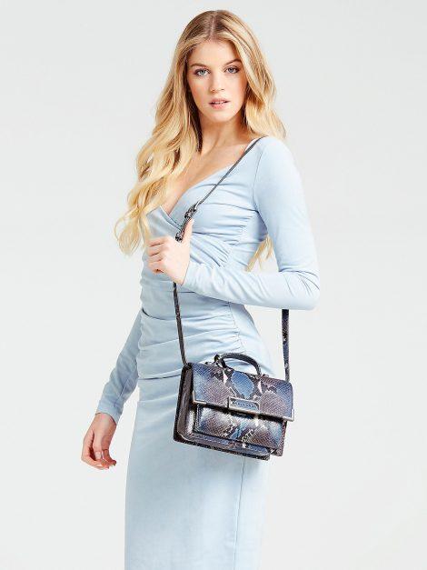 Borsa a tracolla Guess in vera pelle modello Belle Luxe collezione primavera estate 2020 470x627 - Borse Guess in pelle primavera estate 2020