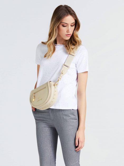 Borsa a tracolla in pelle Guess modello Eve Luxe color crema catalogo primavera estate 2020 470x627 - Borse Guess in pelle primavera estate 2020