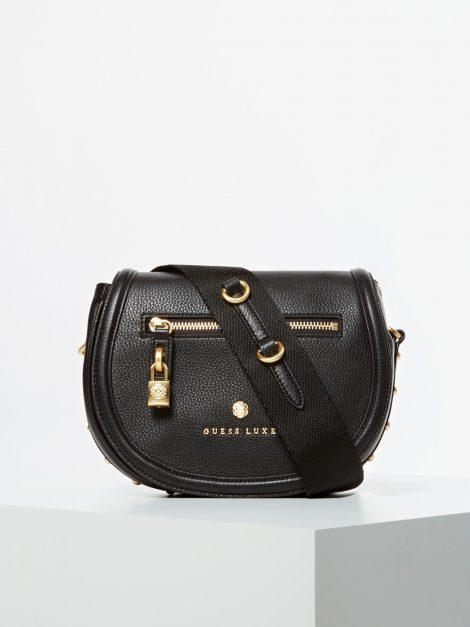 Borsa a tracolla in pelle Guess modello Eve Luxe colore nero 470x627 - Borse Guess in pelle primavera estate 2020
