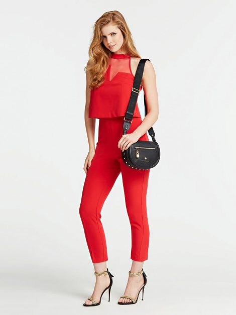 Borsa a tracolla in pelle Guess modello Eve Luxe colore nero catalogo primavera estate 2020 470x627 - Borse Guess in pelle primavera estate 2020