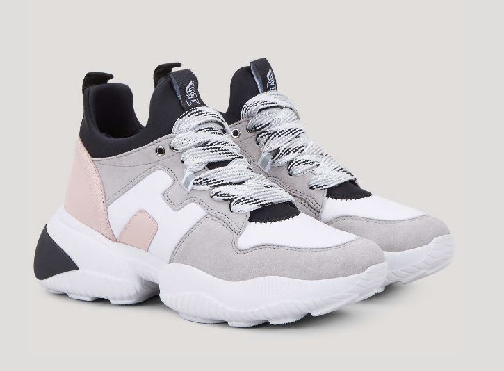 Nuove sneakers Hogan Interaction donna estate 2020 rosa bianche e grigie - Nuove Sneakers HOGAN Donna Primavera Estate 2020 Nuove sneakers Hogan Interaction donna estate 2020 rosa bianche e grigie - Nuove Sneakers HOGAN Donna Primavera Estate 2020